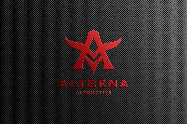 Maquette de logo automobile rouge
