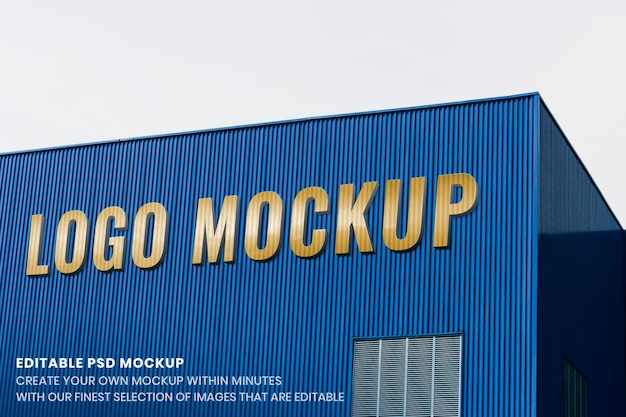 Maquette de logo de bâtiment, conception psd d'entreprise moderne