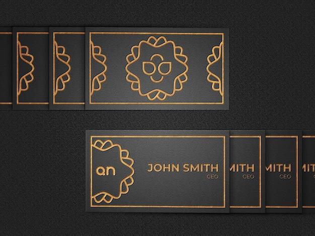 Maquette de logo sur bois avec effet en relief