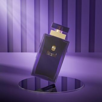 Maquette de logo de bouteille de parfum