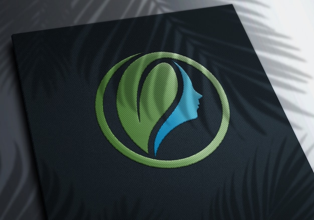 Maquette de logo de broderie