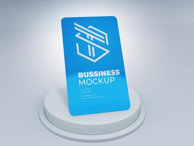 Maquette de logo de carte en plastique