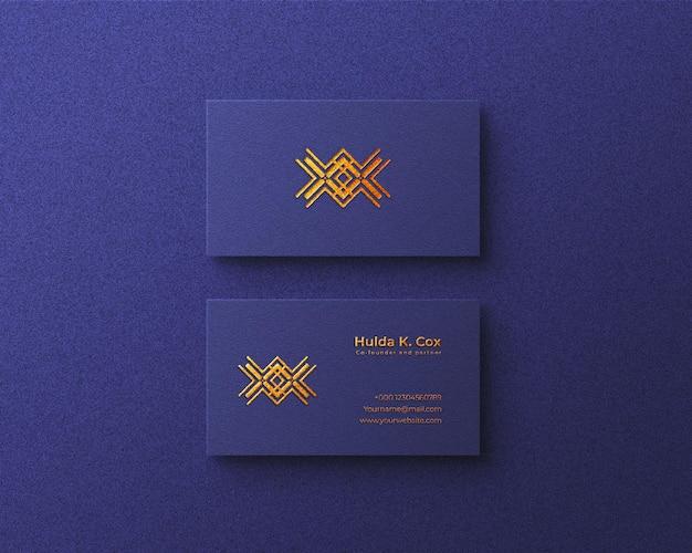 Maquette de logo de carte de visite de luxe