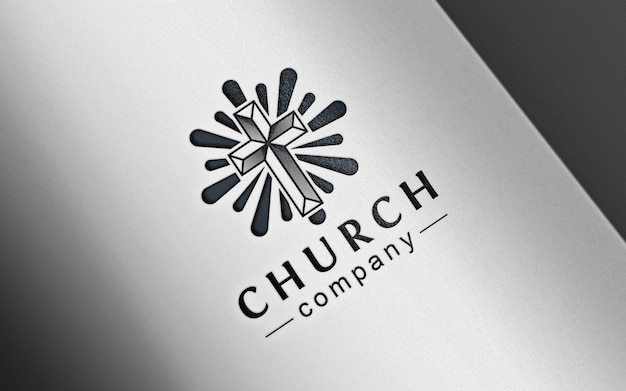 Maquette de logo classique en papier pressé