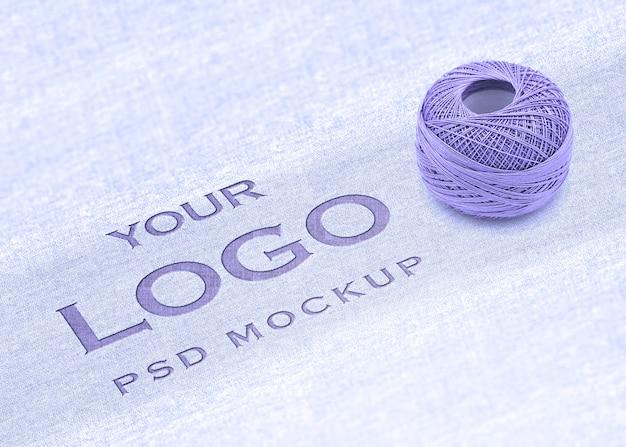 Maquette de logo avec le concept de coton
