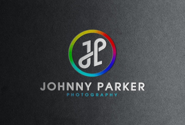 Maquette de logo en couleur