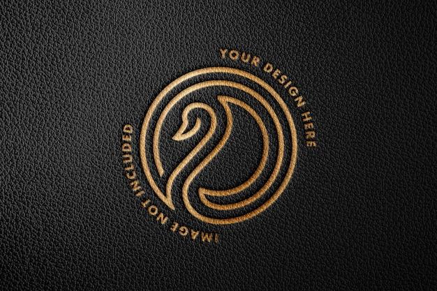 Maquette de logo en cuir