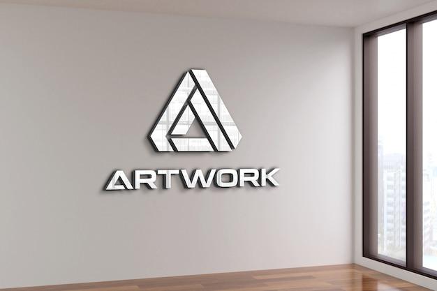 Maquette de logo dans la chambre