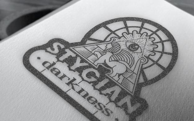 Maquette de logo dessiné à la main