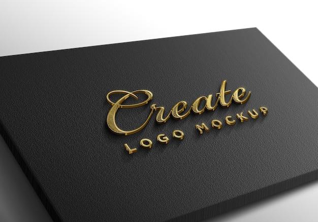 Maquette de logo doré de luxe