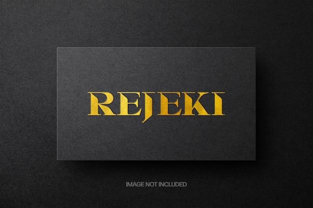 Maquette de logo doré minimaliste