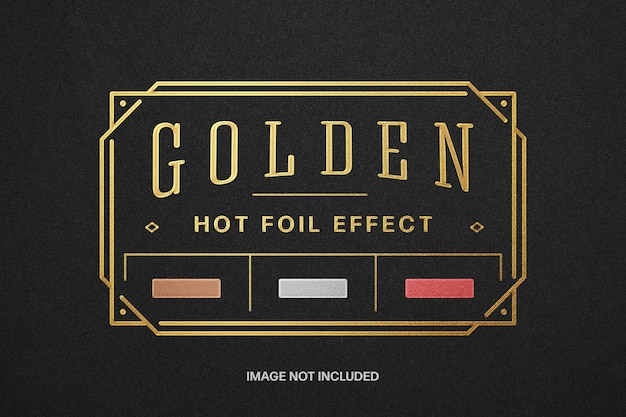 Maquette de logo dorée à chaud
