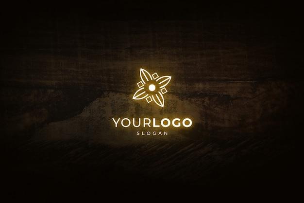 Maquette de logo effet lumineux