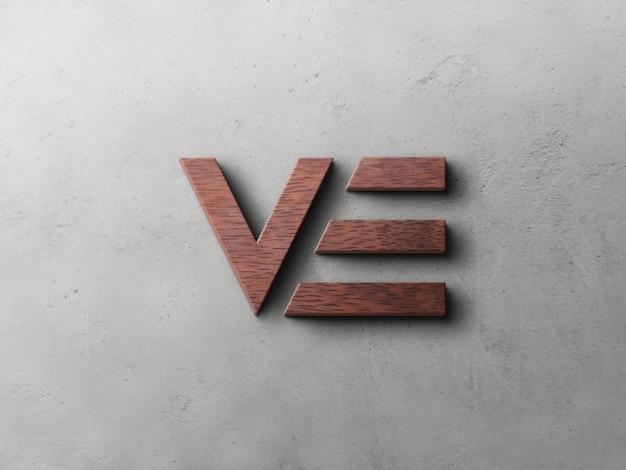 Maquette de logo à effet de relief en bois
