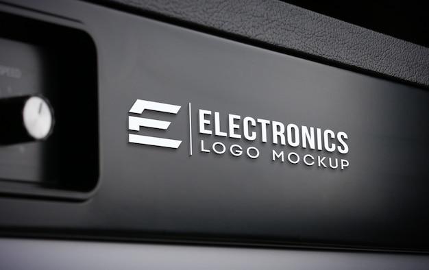 Maquette de logo électronique réaliste