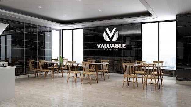 Maquette De Logo D'entreprise Réaliste Dans Le Garde-manger Du Bureau PSD Premium
