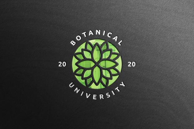 Maquette de logo d'entreprise réaliste avec réflexion