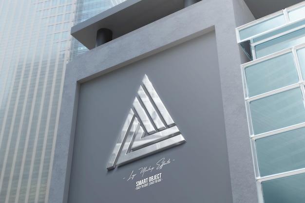 Maquette de logo avec façade
