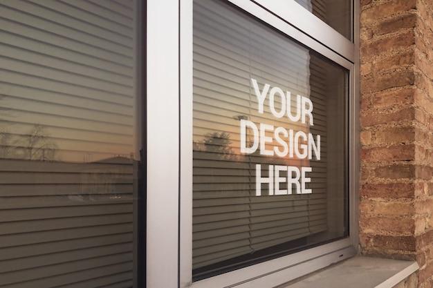 Maquette de logo de fenêtre