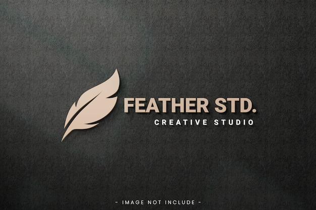 Maquette de logo avec fond grunge