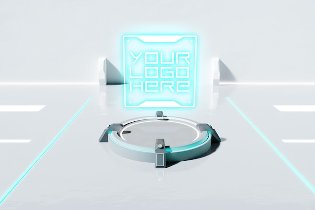 Maquette de logo futuriste