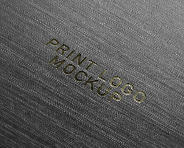 Maquette de logo imprimé d'or