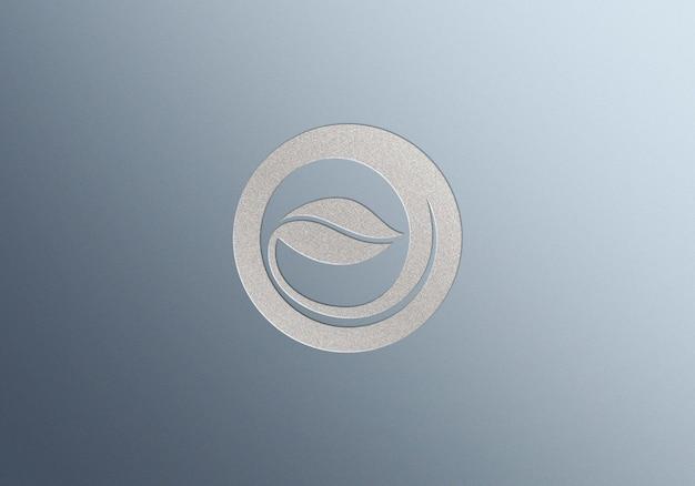 Maquette de logo avec logo en relief