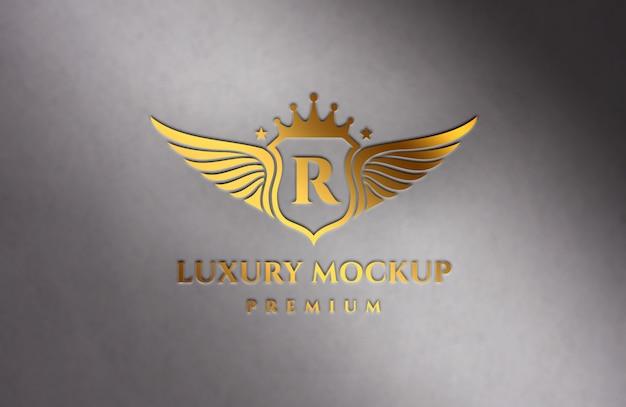 Maquette de logo de luxe doré