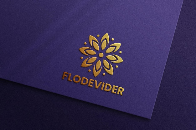 Maquette de logo de luxe sur fond texturé