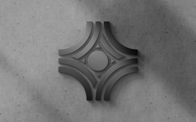 Maquette de logo de luxe moderne 3d