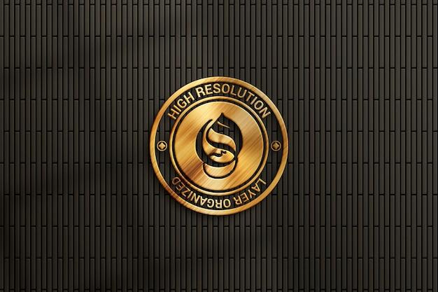 Maquette de logo de luxe sur le mur