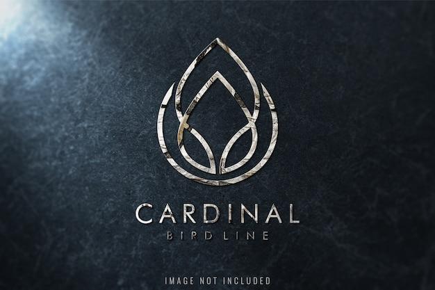 Maquette de logo de luxe sur la texture du marbre