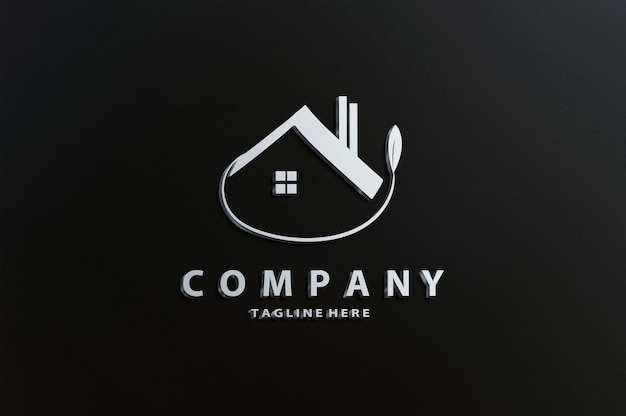 Maquette de logo de luxe
