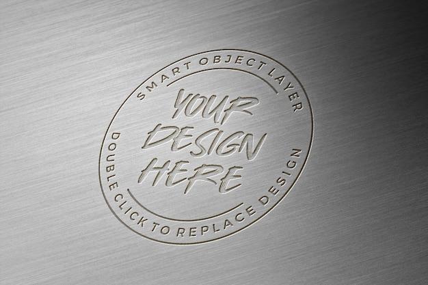 Maquette de logo en métal 3d