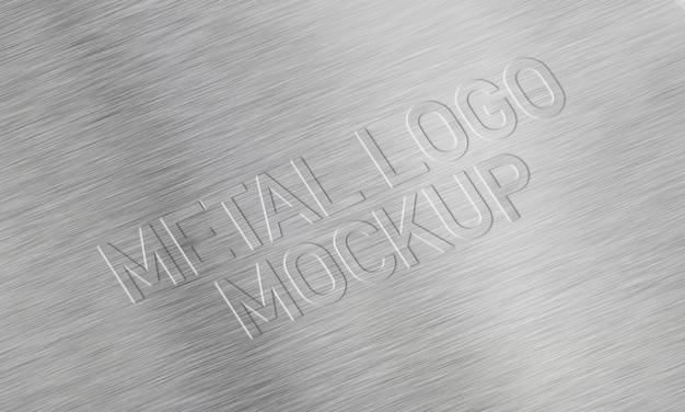 Maquette de logo en métal