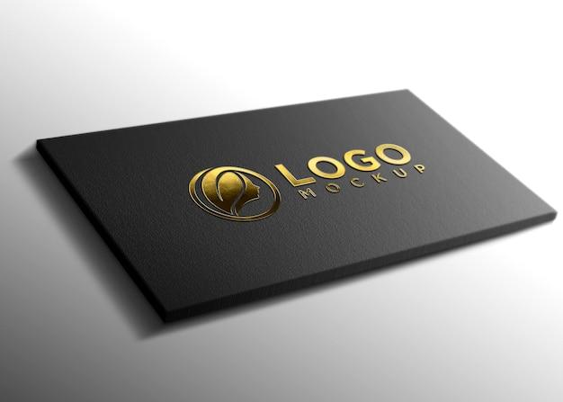 Maquette de logo métallique doré de luxe