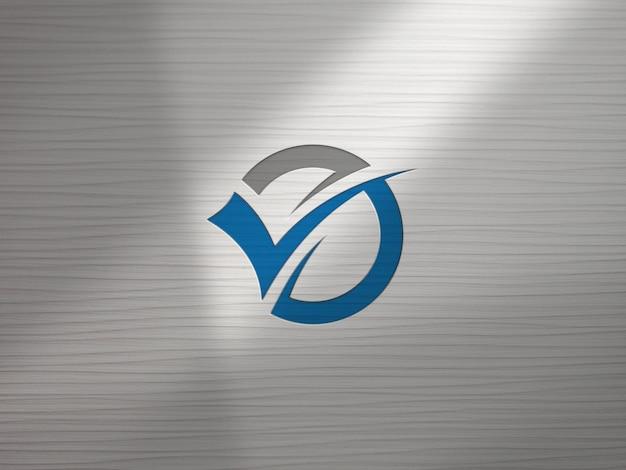Maquette de logo de mur de bureau