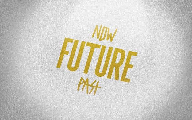 Maquette logo or en carton blanc