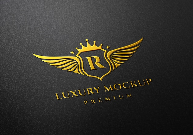 Maquette de logo d'or