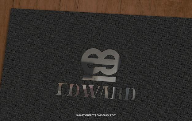 Maquette de logo sur papier noir