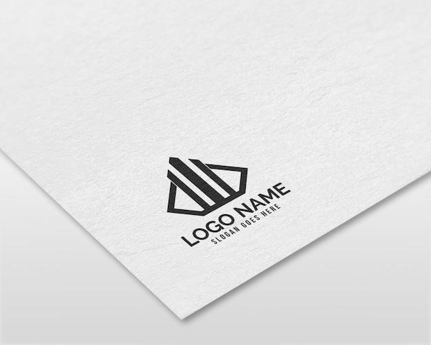 Maquette de logo papier réaliste 3d moderne