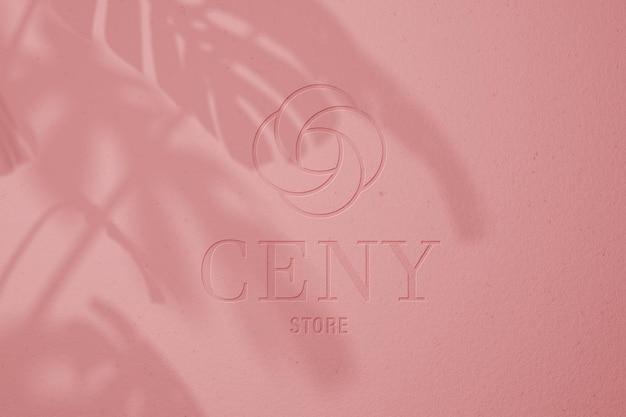 Maquette de logo pastel rose