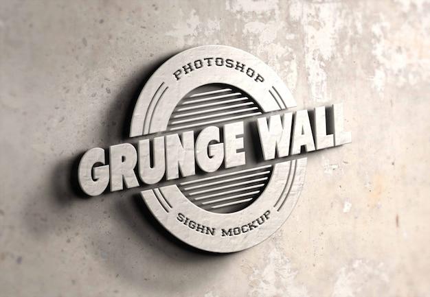 Maquette de logo photoréaliste