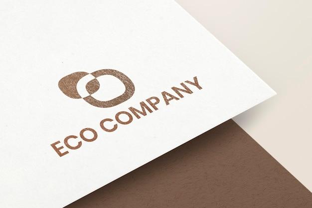 Maquette de logo psd sur papier à en-tête de marque d'identité d'entreprise