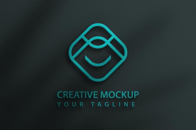 Maquette de logo psd