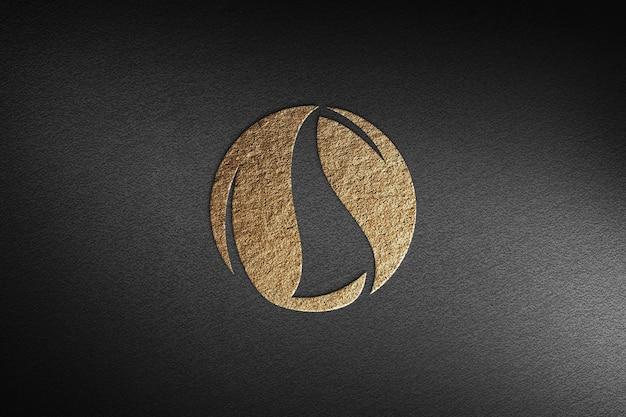 Maquette de logo réaliste texturée