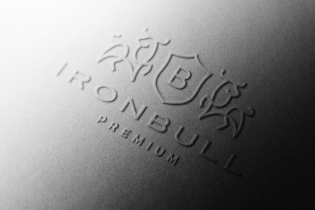 Maquette de logo en relief en papier noir