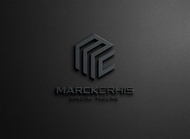 Maquette de logo avec rendu de style en relief