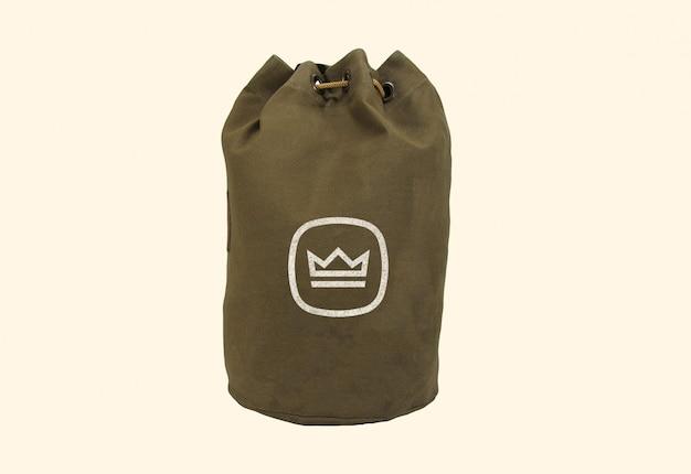 Maquette de logo de sac en tissu