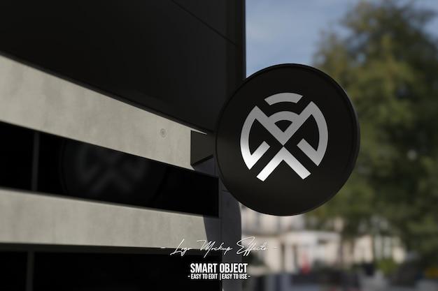 Maquette de logo avec signalisation